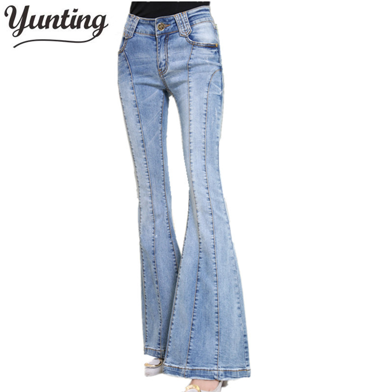 2017 New Mom Jeans Flare Pants Jeans Woman Ladies Denim Female Wide Leg Jeans spring autumn pants trousersÎäåæäà è àêñåññóàðû<br><br>