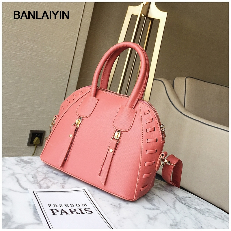 New Fashion Design Women Handbags High Quality PU Double Zipper Flap Shell Clutches Bags Women Shoulder Bags Tote<br>
