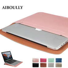 Ultra Thin Waterproof PU Leather Laptop Sleeve Cover Case For Apple Macbook Air 11 Retina 12 13 15 Liner Bag Pro 13 A1706 A1708(China)