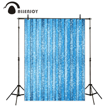 Allenjoy photography background blue wood board snow pattern Winter theme backdrop professional photo studio camera fotografica