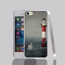 13102 Big Catch fishing fish transparent Cover cell phone Case for iPhone 4 4S 5 5S 5C 6 6S Plus 6SPlus