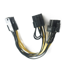 CPU 6 Pin To Graphics Video Card PCI Express Power Splitter Cable 6Pin Female Double 8Pin Male EM88(China)