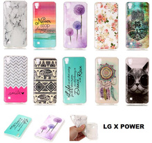 Soft Case For LG X Power Case 5.3 inch Mobile Phone High Quality Protector Back Cover Cat  Elephant Case
