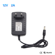 2016 New EU Plug Power Supply Adapter AC 110-240V to DC 12V 2A For LED Strips Light Converter Adapter Switching Charger
