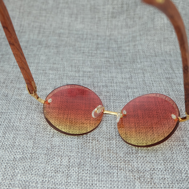 Big Round Wood Color Mix Fashion Pink Sunglasses Lady Eyewear Luxury Sun Glass Brand Designer Carter Sunglass (6)