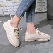 (Ship from US) YOUYEDIAN 2018 Autumn women flats shoes platform sneakers  shoes leather suede casual shoes slip on creepers moccasins  j4w 9c3823f7eb52