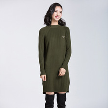 Buy 2018 NEW Women Sweater Dress Fashion Casual Solid Color Army Green Knitted Female Pullovers Sweater Dresses Robe Femme Clothes for $28.30 in AliExpress store