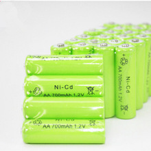 12pcs /lot NI-CD AA 1.2V 700mAh Rechargeable Battery for outdoor Gutter Garden Outdoor Lawn Fence Wall led Solar lamp