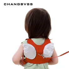 Anti-lost Harness Leash Backpack For Children Angel Design Toddler Walking Assistant Strap Rein Baby Safety Kids Keeper, 4 Color(China)