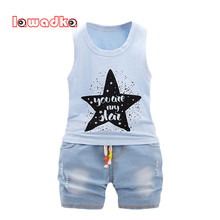 Lawadka Baby Boys Clothing Set Children Vest + Short Pants Set Kids Star Clothes Casual Suits 2 Design  Summer Style