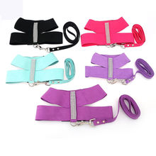New Fashion Bling Rhinestone Dog Harness Vest S M L Black Blue Rose Purple Suede Super Fiber Soft Pet Dog Harness for Dogs(China)