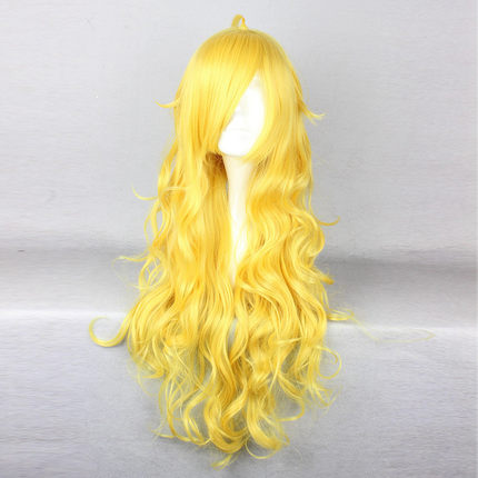 OHCOS Rwby Yang Xiao Long 32 Inches Long Wavy Yellow Fashion Princess Cosplay Wig Synthetic Hair<br><br>Aliexpress