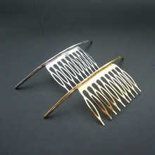 hot fashion punk gold /silver simplicity metal ARC stick hair comb hair jewelry accessories for women peine del pelo mujer(China)