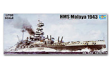 "Trumpeter 1/700 scale model 05799 British Queen Elizabeth ""Malay"" battleship(China)"