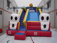 2016 PVC material double lane inflatable sports game slide inflatable slide with high quality low cost