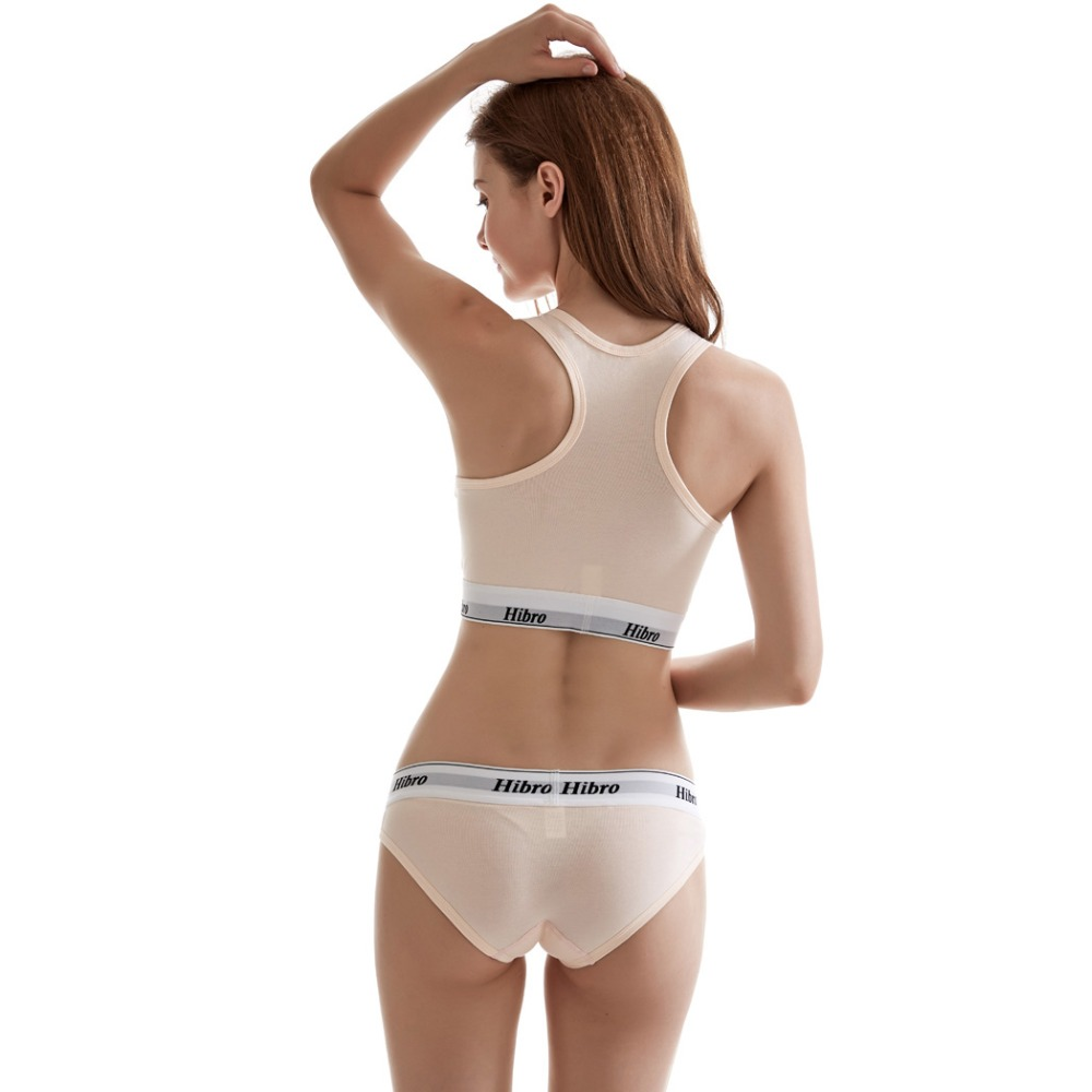 Women's underwear boxers Bra Set cotton comfortable Vest intimates Seamless Sexy Women Thongs Stretch Briefs Bras Sets 7