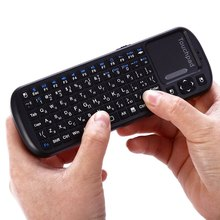 KP 810 19 Russian Version iPazzPort 2.4G Mini Wireless Air Mouse and QWERTY Gaming Keyboard in Russia With TouchPad 3in1 Combo