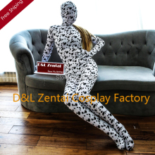 Free Shipping DHL Cute Dalmatian Dog Print Zentai Full Body Zentai Suit Animal Lycra Spandex Halloween Zentai Costume LCDG101(China)