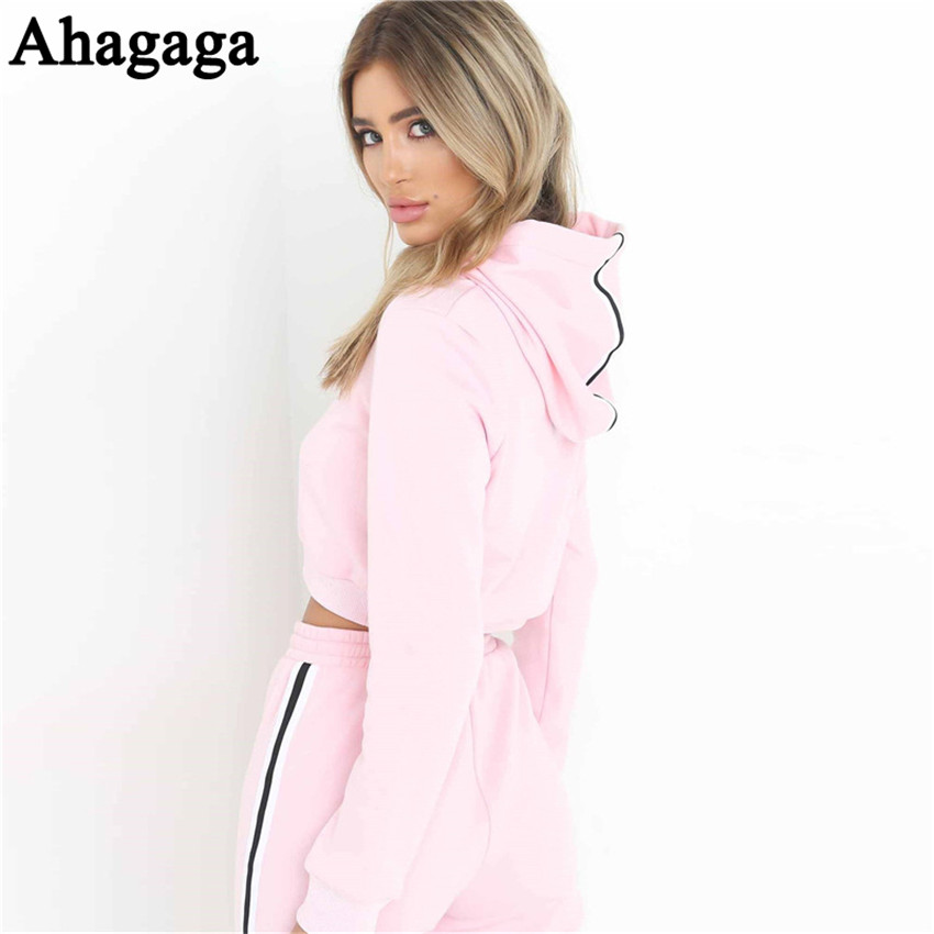 Women's Tracksuits Set, Casual Hooded Sweatsuit Set 23