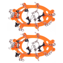 Anti Slip Ice Cleats Shoes Boot Grips Crampon Chain Spike Sharp Outdoor Snow Walker Climbing Ice Gripper crampones Snow chains(China)