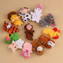 Children 12 pcs Cute Animal Hand Puppet Toys Classic Children Hand Puppet Novelty Cute Dog Monkey Mouse Muppet(China)