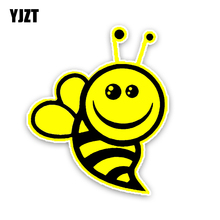 YJZT 11.2CM13.4CM Fashion Lovely Bees Colored PVC Car Sticker Bumper Window Graphic Decoration C1-5168(China)