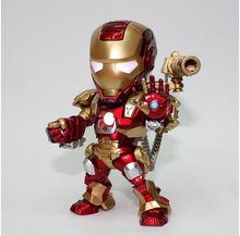 2015 New Hot hand to do Q version black red and gold Iron Man War Machine free shipping luminous voice