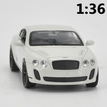 High simulation supercar,1:36 scale alloy pull back Bentley Continental GT cars,Collection metal model toys,free shipping
