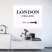London England Print Print Art Interior Design London Sign Modern Print Art Posters Canvas Art Painting Wall Pictures , No Frame(China)