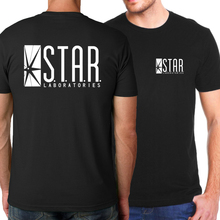 The Flash Star S.T.A.R. Labs Fashion Men T Shirt 2017 Hot Summer Hip hop Tops Tees Men Brand Skateboard  T-Shirts Men Hipster