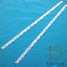 2pcs 32'' 570mm*17mm 10leds LED Backlight Lamps LED Strips w/ Optical Lens Fliter for TV Monitor Panel 30V New