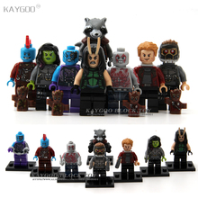 Kaygoo Single Sale PG8044 Super Heroes Guardians of the Galaxy Rocket voice Star-Lord Building Blocks Bricks Kid Baby toys(China)