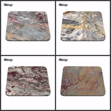 New Design Modern Faux Gold Glitter Marble Unique Desktop Pad Mousepads Computer Animation Round Mouse Mat Rectangular  Mice Pad