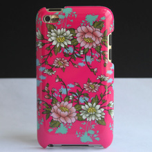 Pink Lotus Flower Design Hard Back Protective Skin Cover Case For Apple iPod Touch 4 4th 4G Coque Funda Capa New(China)