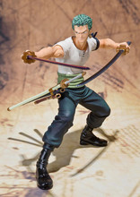 NEW hot 14cm One piece Roronoa Zoro Classic memory action figure toys Christmas gift collectors(China)