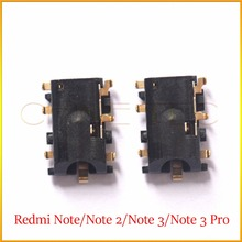 2pcs Earphone Earpiece Headphone Jack Audio Connection Repair Part For xiaomi redmi note 3 &pro Note 2/Note 3G 4G
