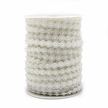 Free Shipping 5 Meters Fishing Line Artificial Pearls Beads Chain Garland Flowers Wedding Party Decoration Products Supply