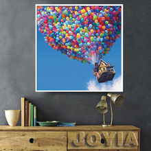 Blue Sky Painting Canvas Modern Wall Paintings Hot Air Balloon Decorative Art Picture Kids Bedroom Movie UP Poster No Frame