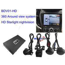 1080P Starlight night vision HD 360 Degree bird View System Panoramic View, All round View Camera system with DVR(China)