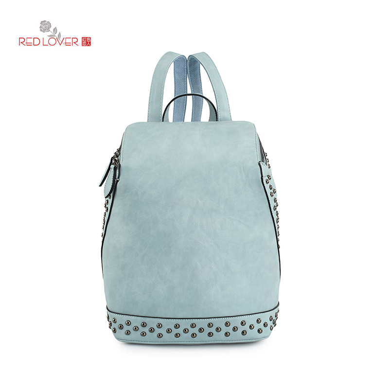 High Quality PU Leather Female Backpack Hot Sale Leisure Pretty Style Fashion Backpack 2017 Summer New  E0E3<br>