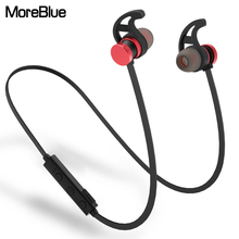 MoreBlue M13 Wireless Bluetooth Headphones Stereo Earphones Magnetic Metal Sport Running Headset Super Bass Earbuds DJ Handsfree(China)
