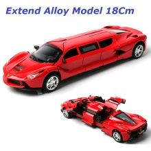 Extended Alloy Car model, 18cm , Die Cast Toys Car, Ratio 1:36 , 4 doors open , back lights,