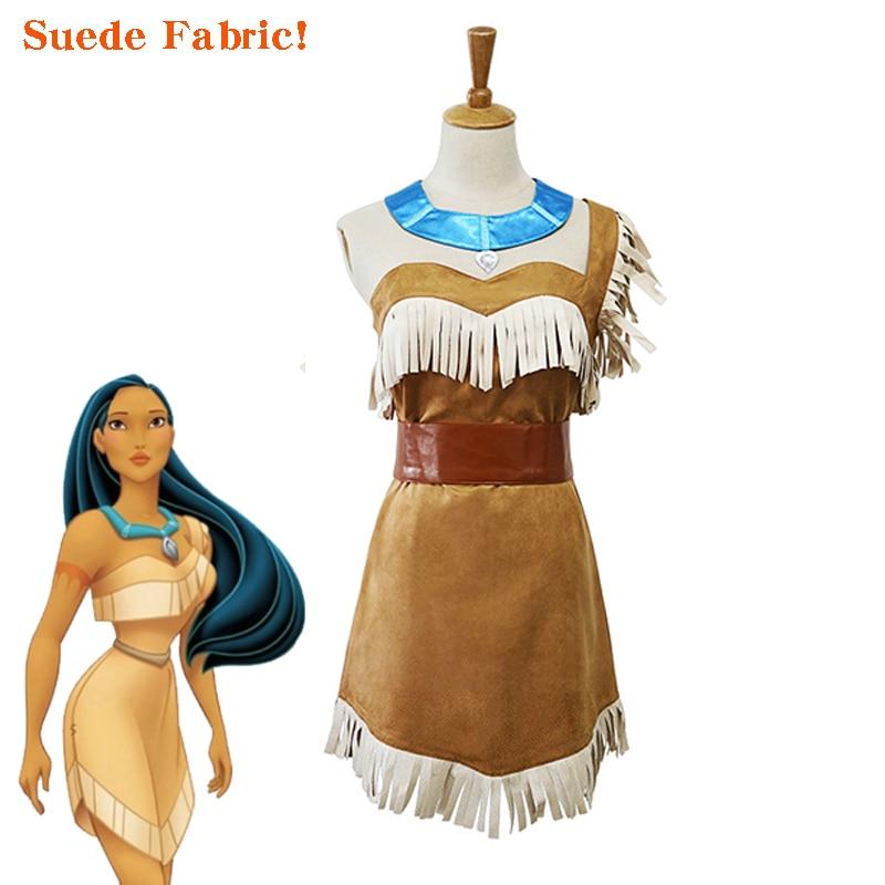 Indian Princess Summer Wild West Native American Pocahontas Women Costume Plus