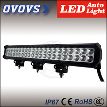 "ovovs super bright 20"" dual row led offroad light bar 126w PC lens driving light 10000lm 10-30v for 4x4 ATV trucks"