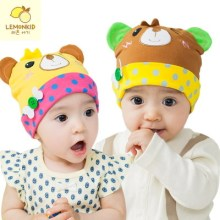 2017 Boy Girl Adorable Little Cartoon Dome Adjustable Spring Hat Child Hat Baby Hat(China)
