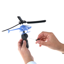 1PC Kids Handle Pull The Plane Aviation Funny Toy Helicopter For Children Baby Play Gift Model Aircraft Helicopter