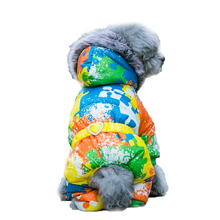 Winter Dog Clothes Soft Fleece Lining Clothes For Dogs With Belt Jigsaw Pattern Pet Chihuahua Clothing For Small Dogs XS- XXL(China)