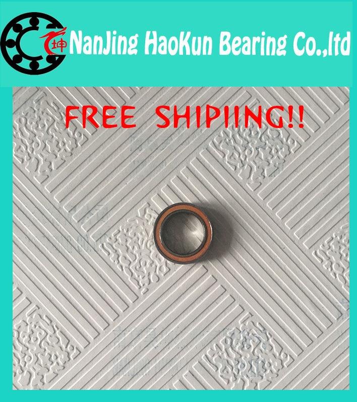 Free Shipping 10x19 x5 mm Hybrid Ceramic Yellow Rubber Seals BIKE BEARING S6800 61800 ABEC-5<br><br>Aliexpress