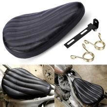 Black Roll Leather Spring Solo Seat Saddle Bracket For Harley Chopper Custom Bobber(China)