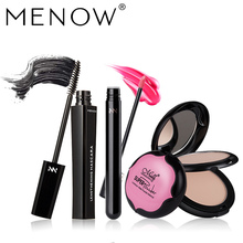 MENOW Make up set Light Concealer Stereo bronzing Double layer Powder&Waterproof Mascara & Moisturize Lip Gloss Cosmetic 5483(China)